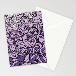 String Bouquet - Lavender Stationery Cards