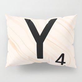 Scrabble Letter Y - Scrabble Art and Apparel Pillow Sham
