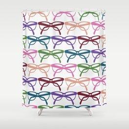 Optometrist Eye Glasses Pattern Print Shower Curtain