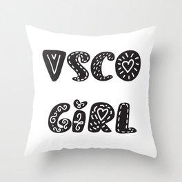 Vsco Girl Shirt, SKSKSK , Vsco Girl Tee Shirts, Scrunchie, Trending Vsco , Teen Shirt, Girls T Throw Pillow