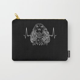 Cocker Spaniel Dog Heart Rate Carry-All Pouch