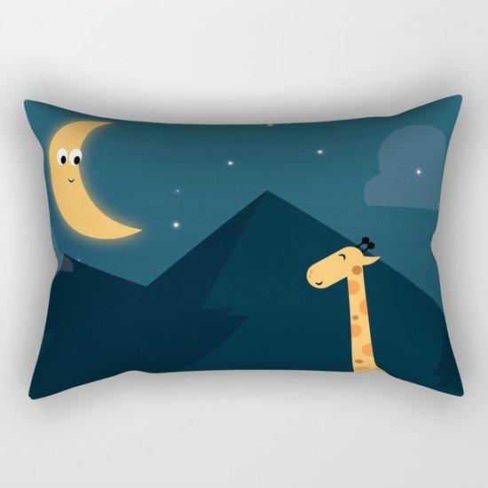 The Giraffe and the Moon Rectangular Pillow