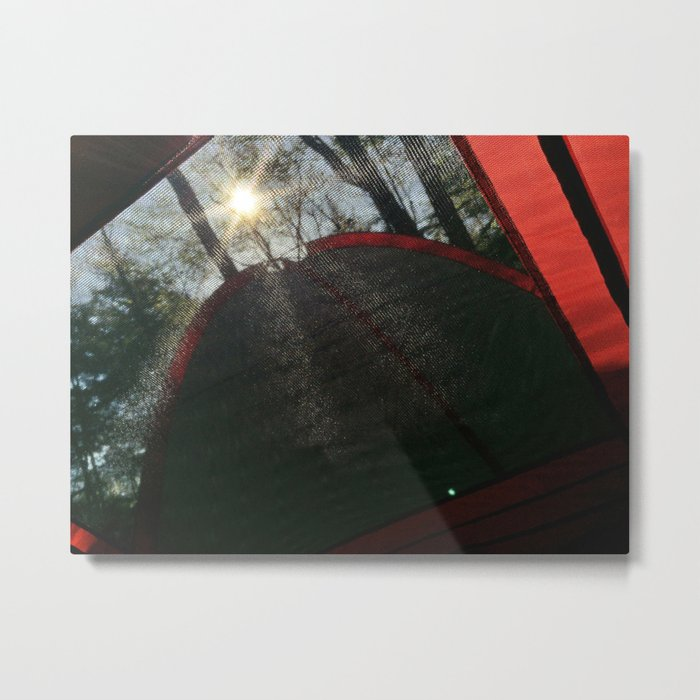 Sunny Morning at a Campground in Maine Metal Print