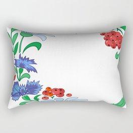 Frame from flowers Rectangular Pillow