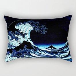the Great Wave Blue Rectangular Pillow