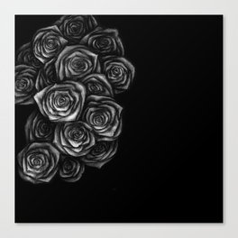 Roses Illustration Canvas Print