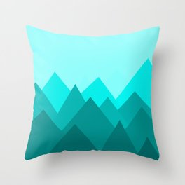 Simple Montains Throw Pillow