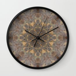 Copper Brown Terracotta Mandala and Tile Wall Clock