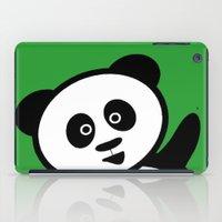 pocket iPad Cases featuring Pocket panda by Jaxxx