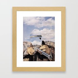 The Unknown Rider Buckskin Run Framed Art Print