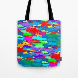 Neon Clouds Tote Bag