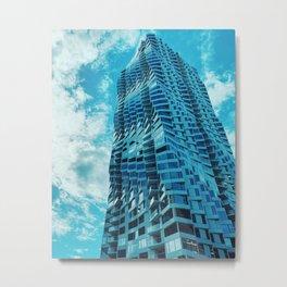 Minimalist Building Blue Skies Metal Print