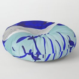 whale in the ocean watercolor illustration Floor Pillow