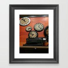 Clocks Framed Art Print