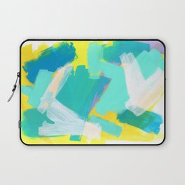 Be Kind, Be OK - mint modern mint abstract painting pastel colors Laptop Sleeve