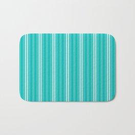 Tiffany Aqua Blue Shades Pinstripes Bath Mat