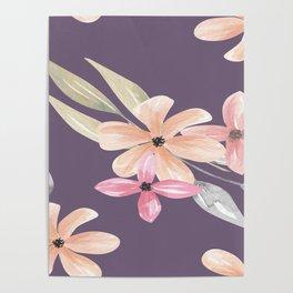 Vintage Floral Patterns Drawing Poster