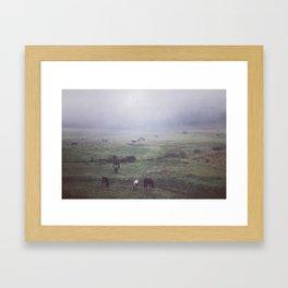 foggy days are my favorite days. Framed Art Print