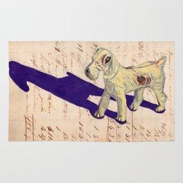 Vintage Celluloid Fox Terrier in Gouache Rug