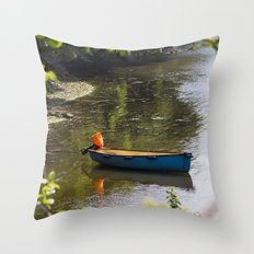 Tranquil Mooring Throw Pillow