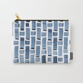 Blue Weave Carry-All Pouch