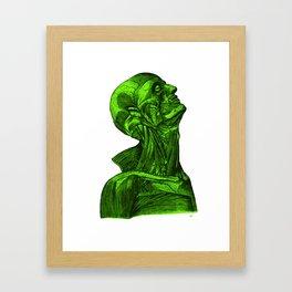 Sacred Man-Neon Green Framed Art Print
