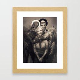 Josie and the Angels Framed Art Print
