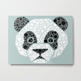 Colourblind Panda Metal Print