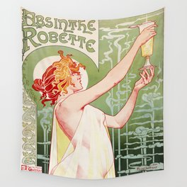 Art Nouveau Absinthe Robette Ad Wall Tapestry