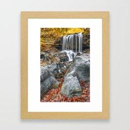 Ozark Mountain Autumn Waterfall - Tanyard Creek Bella Vista Framed Art Print