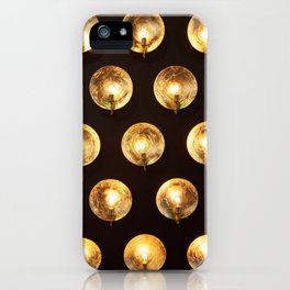 Decorative installation of incandescent lamps iPhone Case