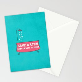 Save Water Shower With A Friend Stationery Cards