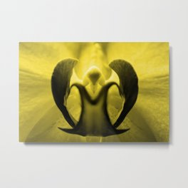 The Orchid Fairy - Yellow Metal Print