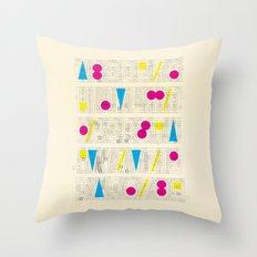 Alphabet Remix #1 Throw Pillow
