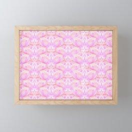 Pink Floral Mandala Pattern Framed Mini Art Print