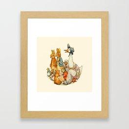 Bedtime Story Animals Framed Art Print