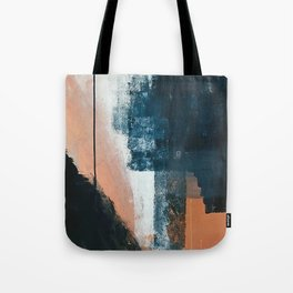 Vienna: a minimal, abstract mixed-media piece in pinks, blue, and white by Alyssa Hamilton Art Tote Bag