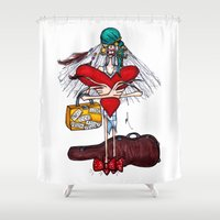 gypsy Shower Curtains featuring Gypsy by Natalie Easton