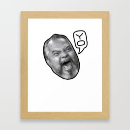 YO! Framed Art Print