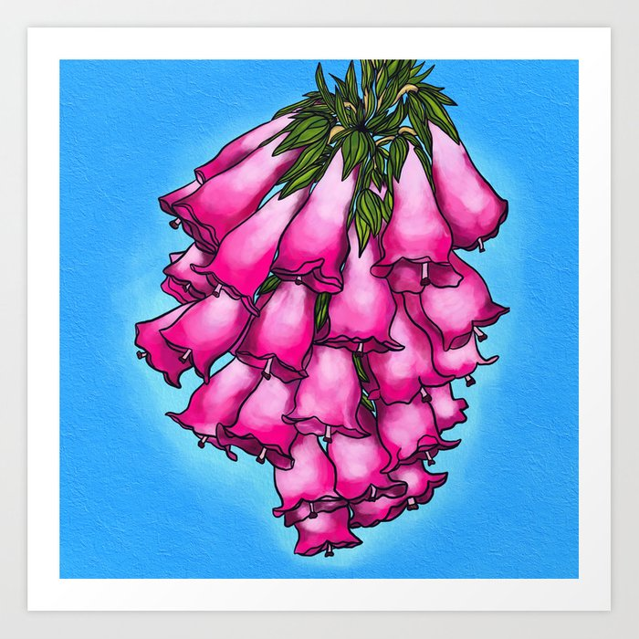 Pretty In Pink Bell Flowers Art Print By Rcarty Society6