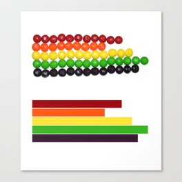 Skittle Stats Canvas Print