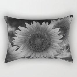 girasol (blanco y negro) Rectangular Pillow
