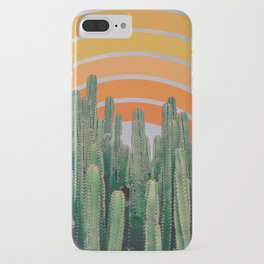 Cactus and Rainbow iPhone Case