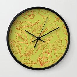Autumn's Smile Wall Clock