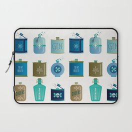 Flask Collection – Blue and Tan Palette Laptop Sleeve