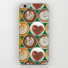 Latte Polka Dots in Winter Green iPhone Skin