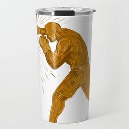Boxer Punching Bag Drawing Travel Mug