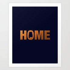 Alabama home state faux copper foil print Art Print