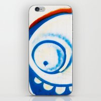 grafitti iPhone & iPod Skins featuring Grafitti Face by Leslie Philipp