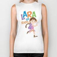megan lara Biker Tanks featuring Lara the Explorer by Gimetzco's Damaged Goods